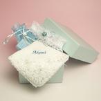 サムシングフォーの3点セット 名入れ刺繍 選べる花嫁ハンカチ